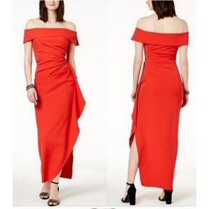 VINCE CAMUTO OFF SHOULDER RUFFLED GOWN🆕